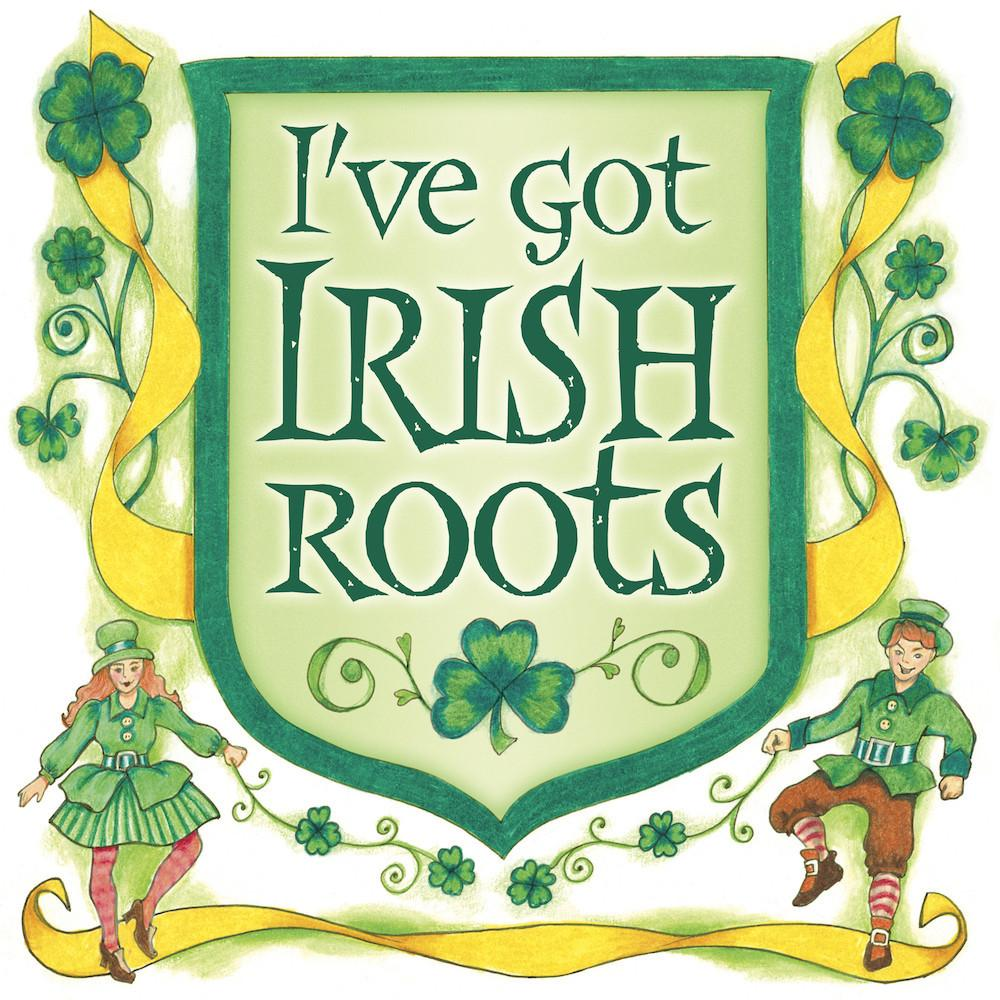 Irish Gift Ideas Irish Roots Magnet Tile - Below $10, Collectibles, CT-230, Home & Garden, Irish, Kitchen Magnets, Magnet Tiles, Magnet Tiles-Irish, Magnets-Refrigerator, PS-Party Favors, SY: Roots Irish