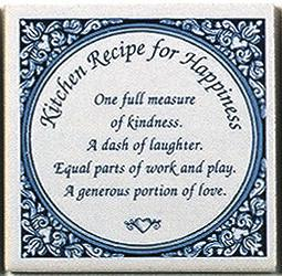 Tile Magnets Sayings: Kitchen Recipe - Collectibles, General Gift, Home & Garden, Kitchen Magnets, Magnet Tiles, Magnet Tiles-Saying, Magnets-Refrigerator, PS-Party Favors, SY: Kitchen
