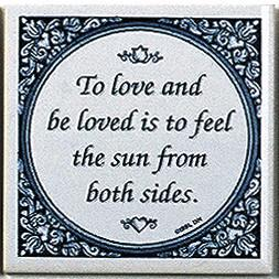 Tile Magnets Quotes: Love & Be Loved - Collectibles, Decorations, General Gift, Home & Garden, Kitchen Magnets, Magnet Tiles, Magnet Tiles-Saying, Magnets-Refrigerator, PS-Party Favors, SY: Love and Be Loved