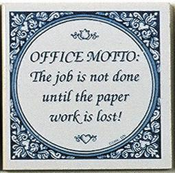 Tile Magnets Quotes: Office Motto? - Collectibles, Decorations, General Gift, Home & Garden, Kitchen Magnets, Magnet Tiles, Magnet Tiles-Saying, Magnets-Refrigerator, PS-Party Favors, SY: Office Motto