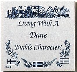 Danish Culture Magnet Tile Living With Dane - Below $10, Collectibles, CT-205, Danish, Decorations, Home & Garden, Kitchen Magnets, Magnet Tiles, Magnet Tiles-Danish, Magnets-Refrigerator, PS-Party Favors, SY: Living with a Dane