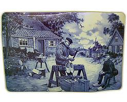 Holland Clog Maker Placemat - Below $10, Collectibles, CT-210, Decorations, Dutch, Home & Garden, Placemats, Tiles-Scenic, Van Hunnik, Windmills