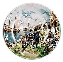 Collectible Blue Color Plate Fisherman - OktoberfestHaus.com
