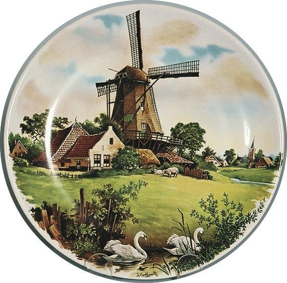 P842/P8: MILL/SWAN/COLOR  PLATE 8IN.