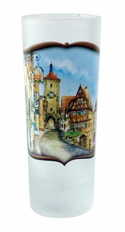 German Glass Oktoberfest Shooter Village Dancers - Alcohol, Barware, Clear, Collectibles, Drinkware, European, Frosted, German, Germany, Glass, Home & Garden, PS- Oktoberfest Party Favors, PS-Party Favors, PS-Party Favors German, Shot Glasses, Shots-Glass, SY: Grouchy German, Tableware - 2