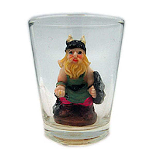 3 D Souvenir Viking Novelty Shot Glass - Alcohol, Barware, Below $10, Clear, Collectibles, Drinkware, Glass, Home & Garden, Norwegian, PS-Party Favors, PS-Party Favors Norsk, Scandinavian, Shot Glasses, Shots-Glass, Tableware, Top-NRWY-B, Viking