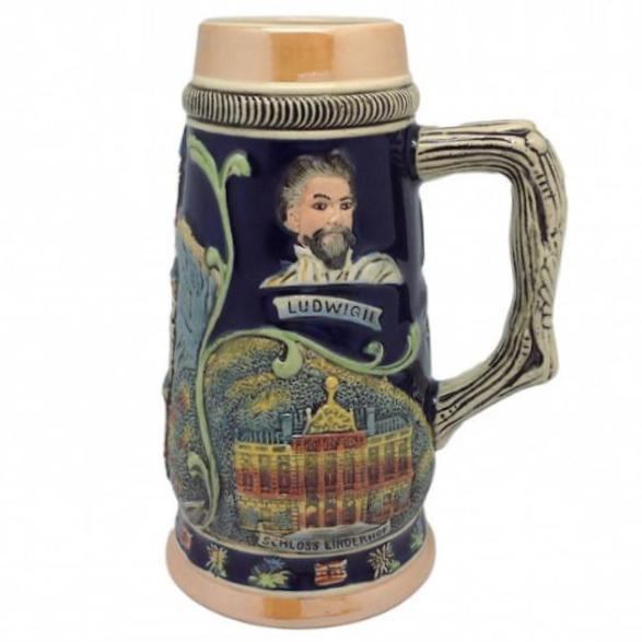 Highlights of Germany Collectible Beer Stein - .75L, Alcohol, Barware, Beer Glasses, Beer Stein-No Lid, Beer Stein-No Lid-EHG, Beer Steins, Coffee Mugs, Collectibles, Decorations, Drinkware, German, Germany, Home & Garden, Ludwigs Castle, Multi-Color