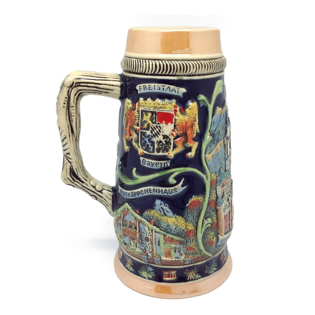 Highlights of Germany Collectible Beer Stein - .75L, Alcohol, Barware, Beer Glasses, Beer Stein-No Lid, Beer Stein-No Lid-EHG, Beer Steins, Coffee Mugs, Collectibles, Decorations, Drinkware, German, Germany, Home & Garden, Ludwigs Castle, Multi-Color - 2 - 3