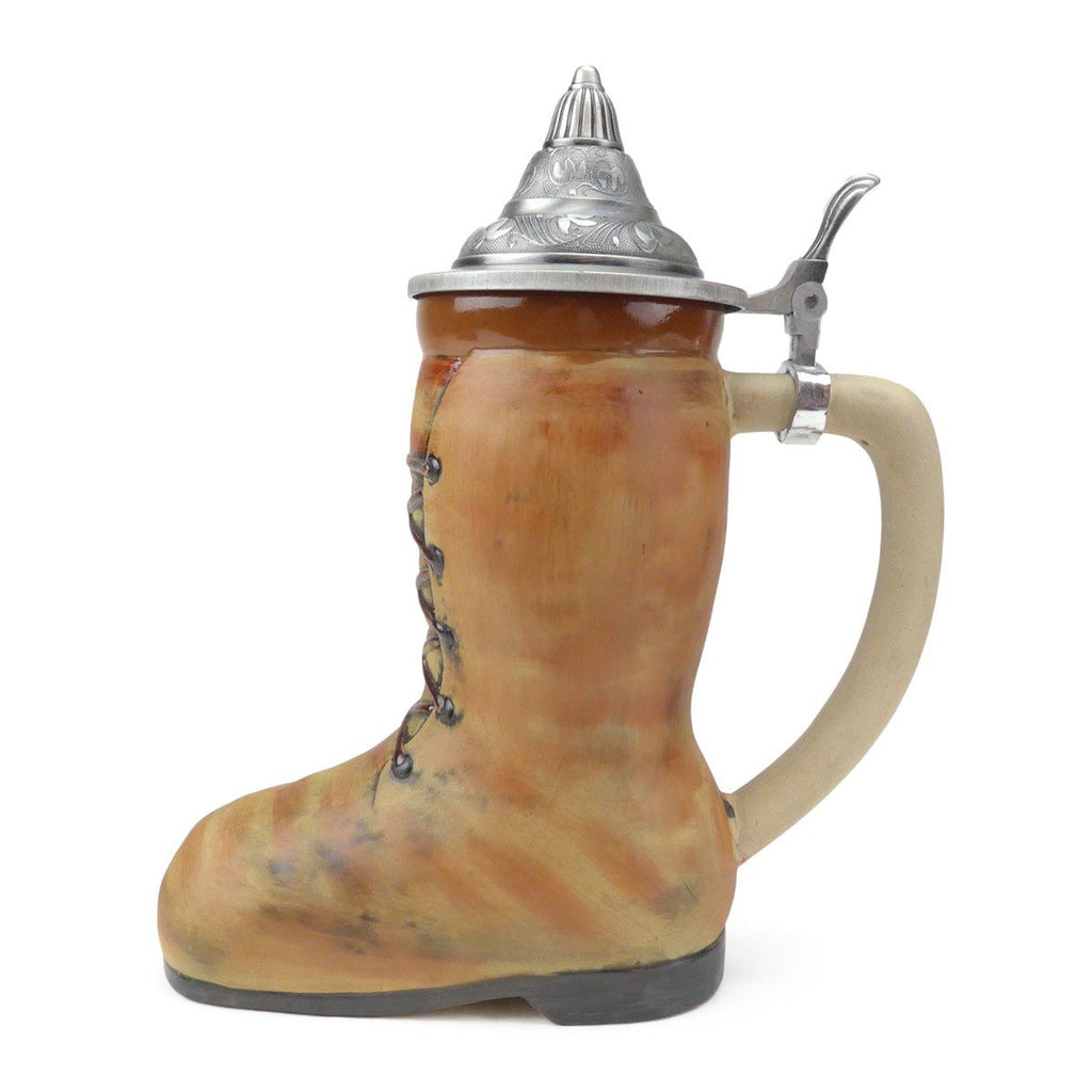 S4261: STEIN: 1L BEER BOOT W/LID