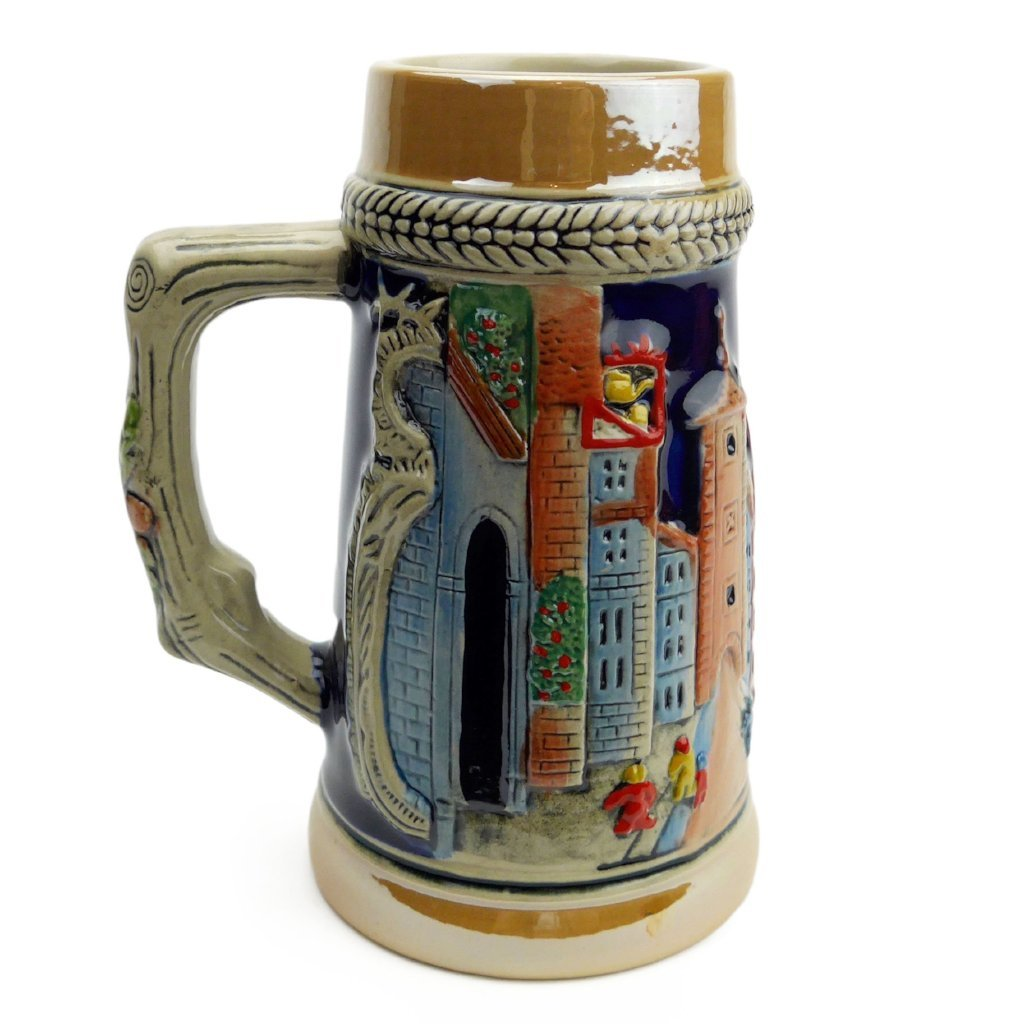 German Village Street  .75L Beer Stein -3