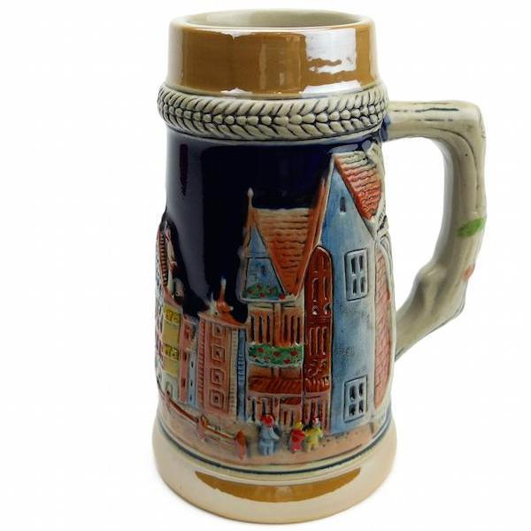 German Village Street  .75L Beer Stein -1