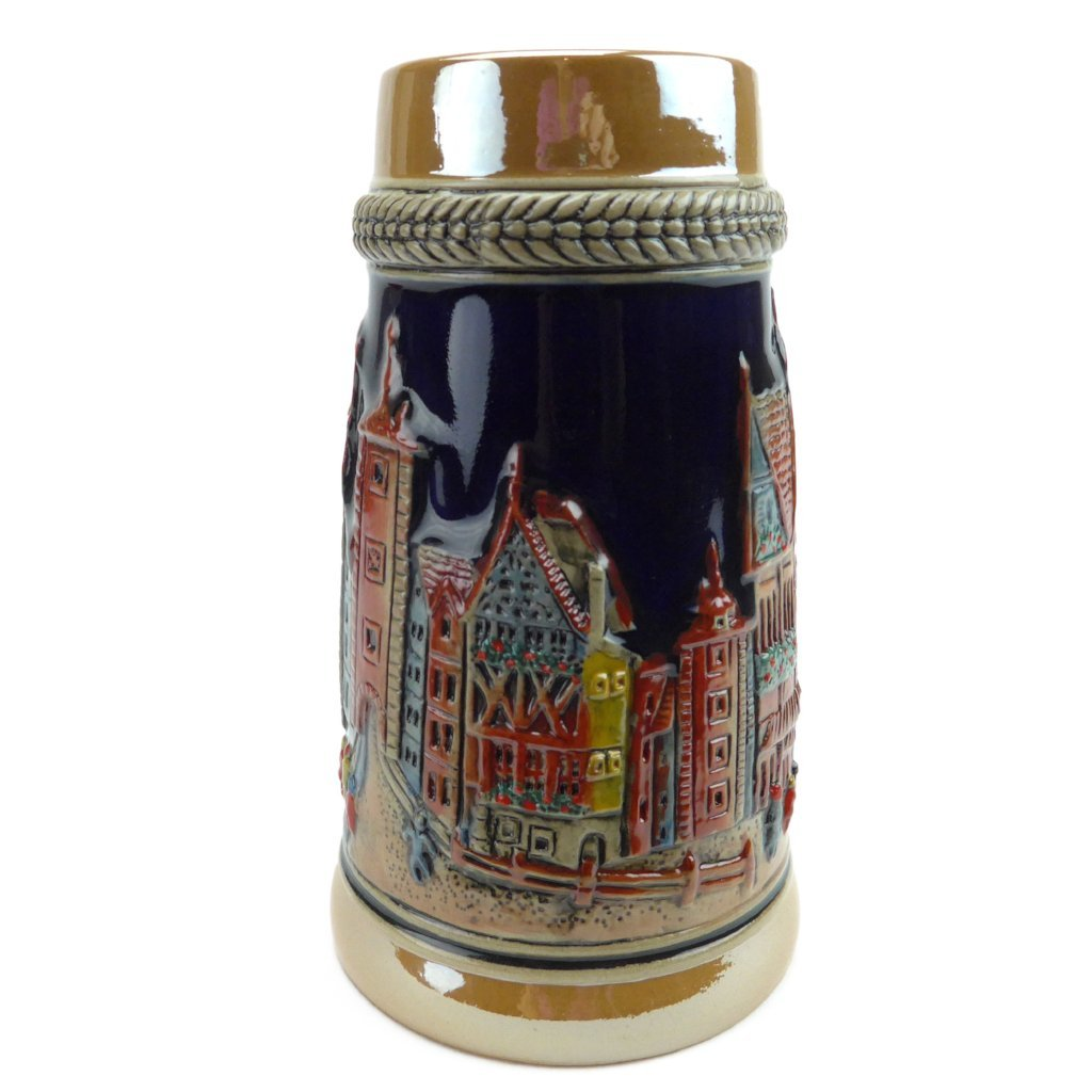 German Village Street  .75L Beer Stein -2