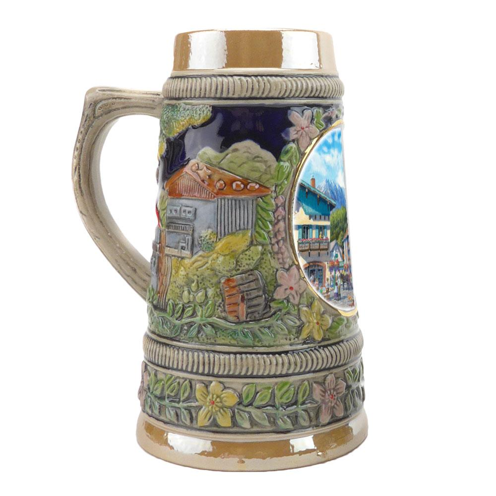 Mini Ludwig's Beer Stein Shot Glass - Alcohol, Barware, Ceramics, Collectibles, Drinkware, German, Germany, Home & Garden, Ludwigs Castle, Miniatures, Multi-Color, PS- Oktoberfest Party Favors, PS-Party Favors, Shot Glasses, Shots-Ceramic, Tableware, Top-GRMN-A - 3
