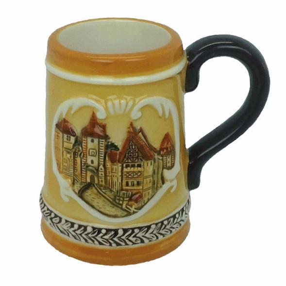 Rothenburg Germany Stein Shot Glass - Alcohol, Barware, Ceramics, Collectibles, Drinkware, Euro Village, European, German, Germany, Home & Garden, PS-Party Favors, PS-Party Favors German, Shot Glasses, Shots-Ceramic, Shots-Glass, Tableware