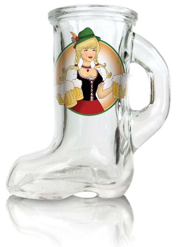 Beer Boot Oktoberfest Lady Shot - Alcohol, Barware, Clear, Collectibles, Drinkware, German, Germany, Glass, Home & Garden, PS- Oktoberfest Party Favors, PS-Party Favors, PS-Party Favors German, Shot Glasses, Shots-Glass, Tableware, Top-GRMN-B
