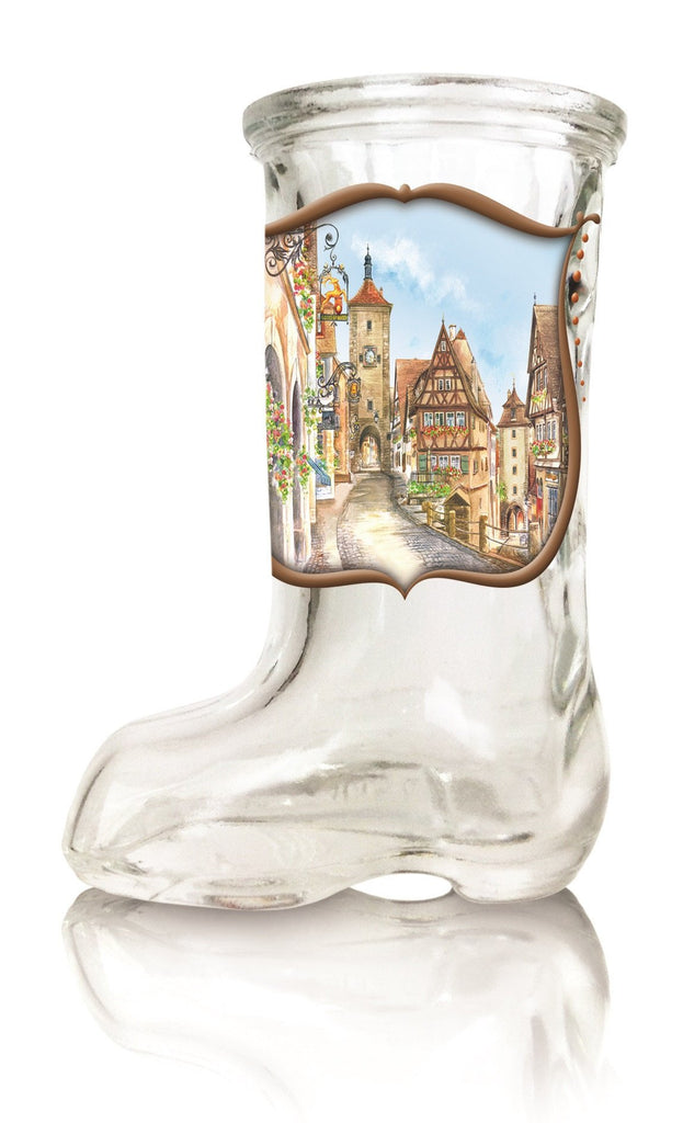 European Village Scene Oktoberfest Beer Boot Shot Glass - Euro Village, German, Glass, New Products, NP Upload, PS- Oktoberfest Party Favors, PS-Party Favors German, Under $10, Yr-2015