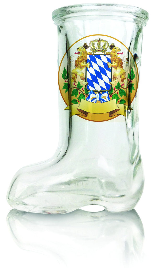 Beer Boot Shot Glass Bayern Crest - Bayern, German, Glass, Ofest Man, PS- Oktoberfest Party Favors, PS-Party Favors German, Top-GRMN-B, Under $10, Yr-2014