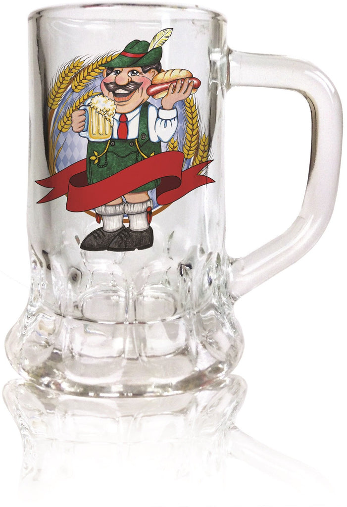 Ofest Man Dimpled Oktoberfest Mug Shot Glass - German, Glass, New Products, NP Upload, Ofest Man, PS- Oktoberfest Party Favors, PS-Party Favors German, Under $10, Yr-2015