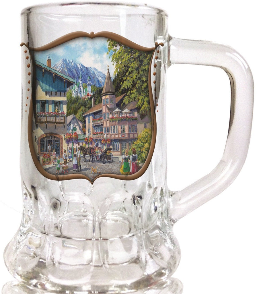German Summer  Dimpled Oktoberfest Mug Shot Glass - Craige Thorpe, German, Glass, New Products, NP Upload, PS- Oktoberfest Party Favors, PS-Party Favors German, Under $10, Yr-2015
