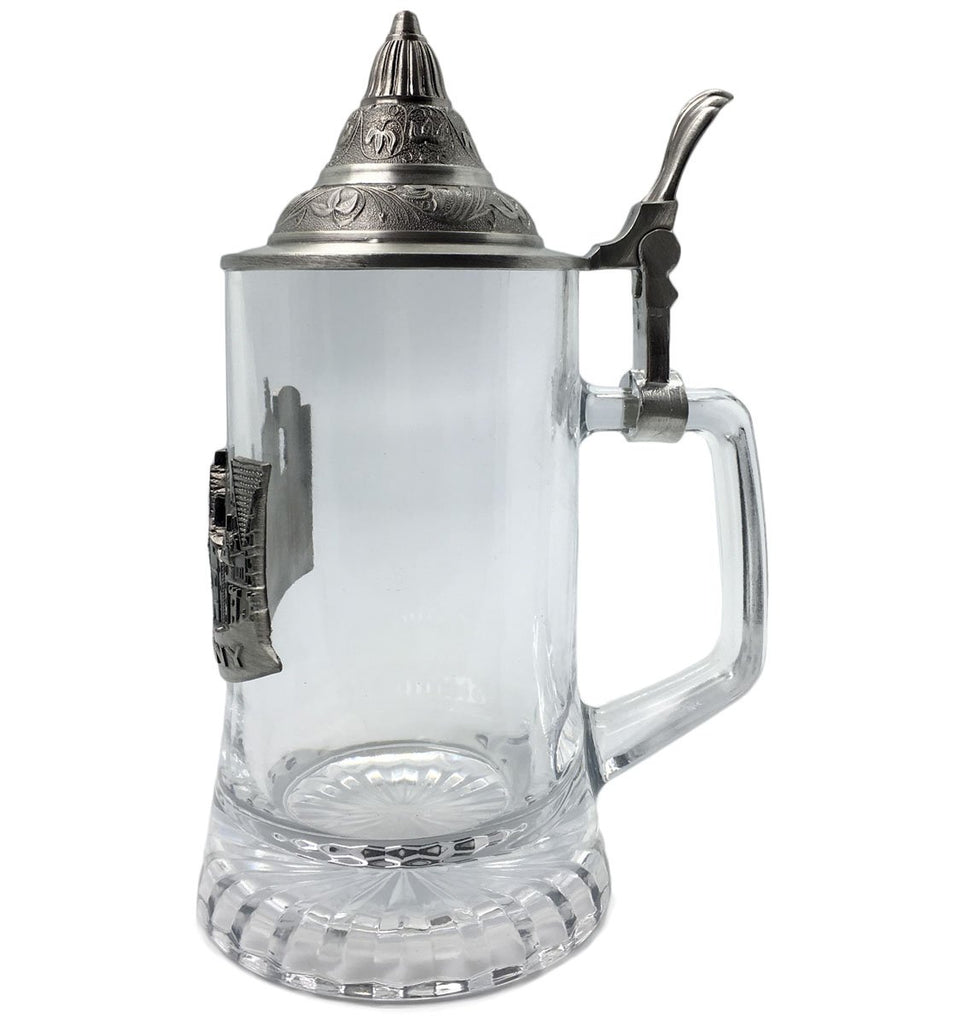 .5L Village Medallion Lidded Glass Mug -2