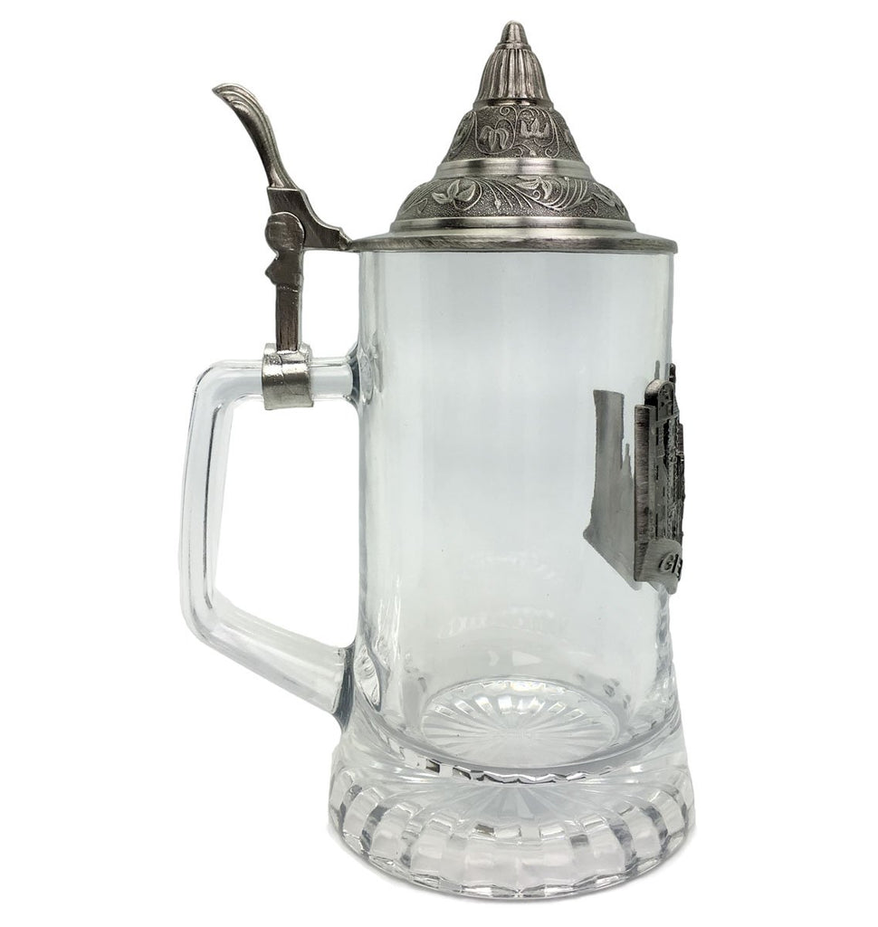.5L Village Medallion Lidded Glass Mug -3