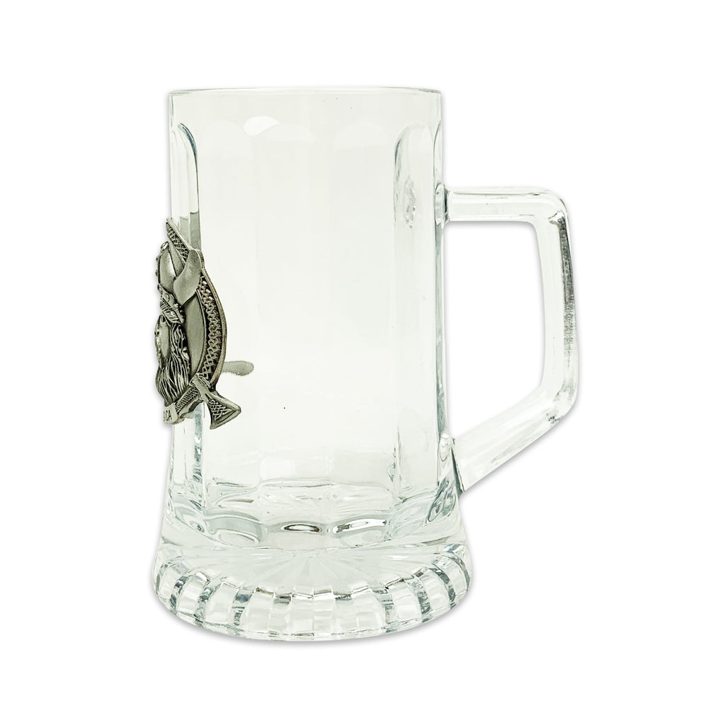GLASS MUG: VIKING MEDALLION