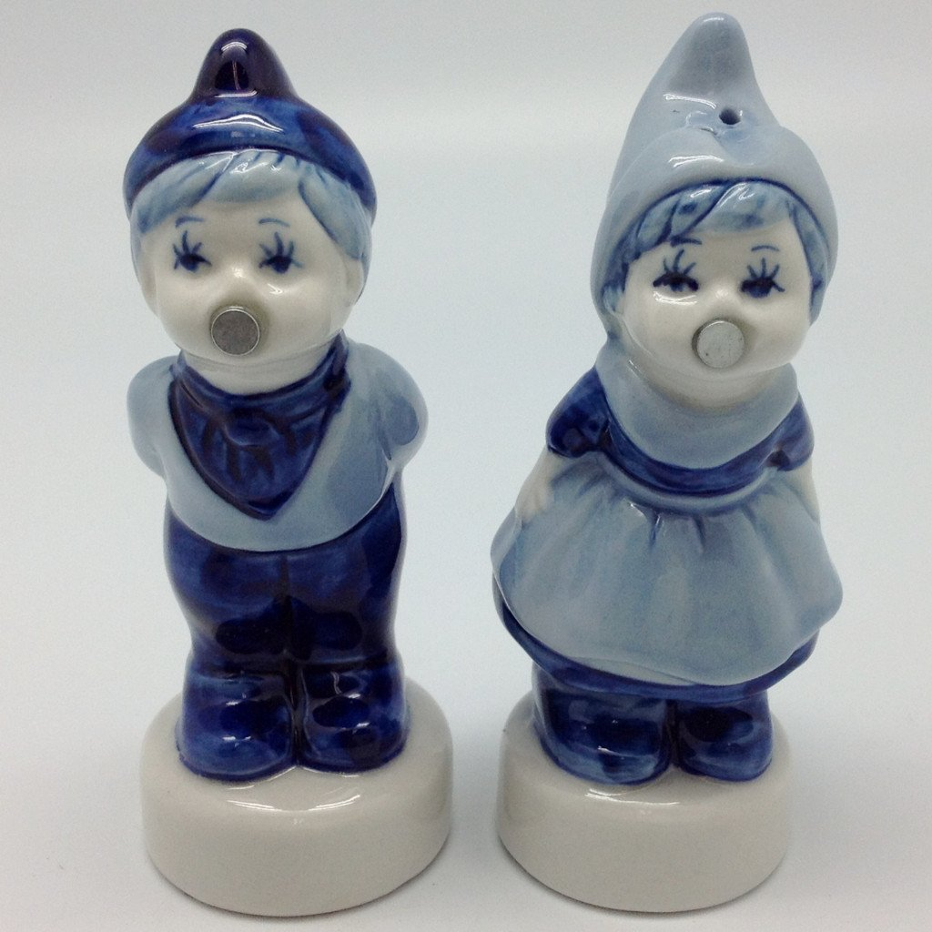 Delft Magnetic Salt & Pepper Shakers Dutch - Collectibles, Decorations, Delft Blue, Dutch, Home & Garden, Kitchen Decorations, PS-Party Favors, PS-Party Favors Dutch, S&P Sets, S&P Sets-Dutch, S&P Sets-Magnetic, Tableware, Top-DTCH-B - 2 - 3 - 4