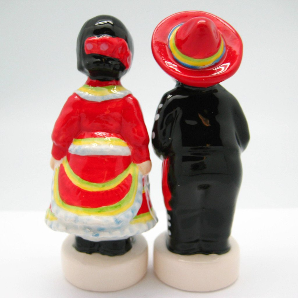 Collectible Magnetic Salt & Pepper Sets Mexican - Below $10, Collectibles, Decorations, Home & Garden, Kissing Couple, Kitchen Decorations, Mexican, PS-Party Favors, S&P Sets, S&P Sets-Magnetic, S&P Sets-Mexican, Tableware - 2 - 3