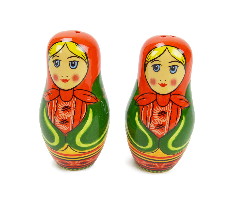 Russian Nesting Doll Collectible Salt & Pepper Set - Italian, Kitchen Decorations, Nesting Doll, New Products, NP Upload, S&P Sets, Under $10, Yr-2016