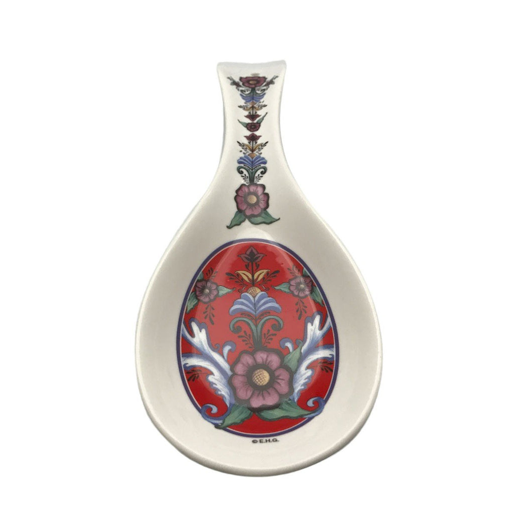 SR256: SPOON REST:ROSEMALING RED