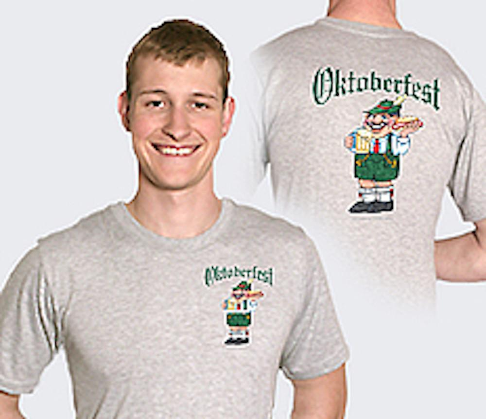 inchesOktoberfest inches German T Shirt - Apparel- T Shirts, Apparel-Costumes, Apparel-Shirt-German, German, Germany, Grey, L, M, Oktoberfest, Size, Top-GRMN-B, XL, XXL - 2