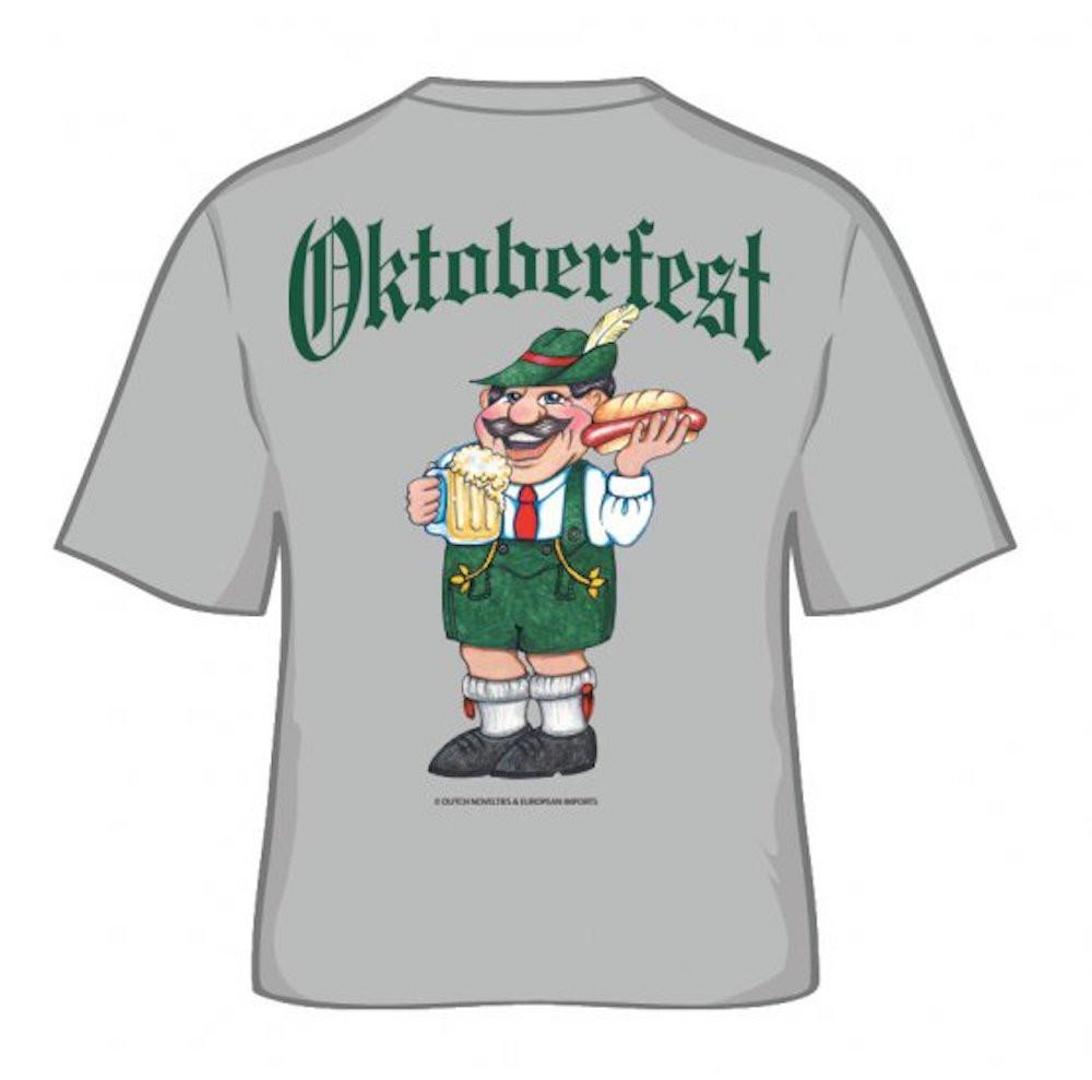 inchesOktoberfest inches German T Shirt - Apparel- T Shirts, Apparel-Costumes, Apparel-Shirt-German, German, Germany, Grey, L, M, Oktoberfest, Size, Top-GRMN-B, XL, XXL