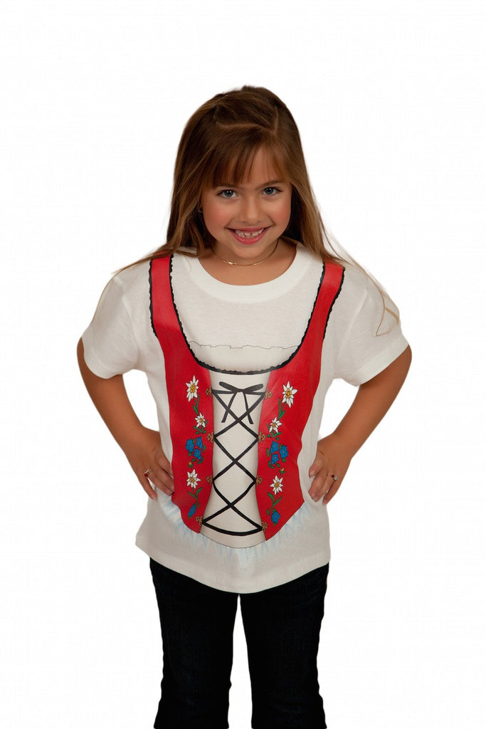 Oktoberfest T Shirt German Dirndl Design - Apparel- Costumes - German - Womens, Apparel- T Shirts, Apparel-Costumes, Apparel-Shirt-German, German, Germany, L, M, Oktoberfest, S, Size, Top-GRMN-B, White, XL, XXL - 2 - 3 - 4