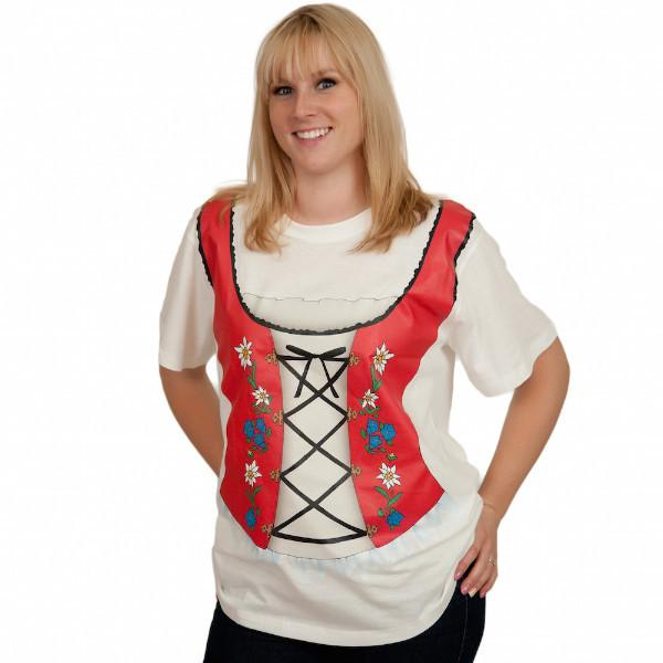 Oktoberfest T Shirt German Dirndl Design - Apparel- Costumes - German - Womens, Apparel- T Shirts, Apparel-Costumes, Apparel-Shirt-German, German, Germany, L, M, Oktoberfest, S, Size, Top-GRMN-B, White, XL, XXL - 2 - 3