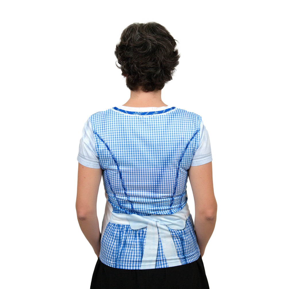 German Costume Dirndl Realistic Faux Blue Shirt - GermanGiftOutlet.com