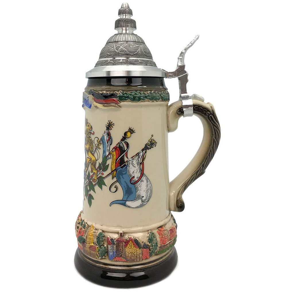 Classic Zoller & Born Bayern Flag .75L German Beer Stein -2