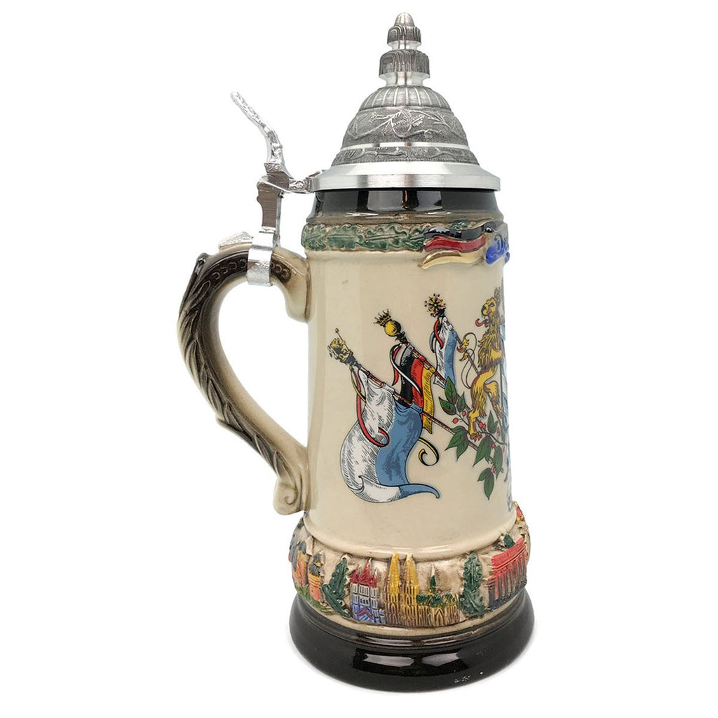 Classic Zoller & Born Bayern Flag .75L German Beer Stein -3