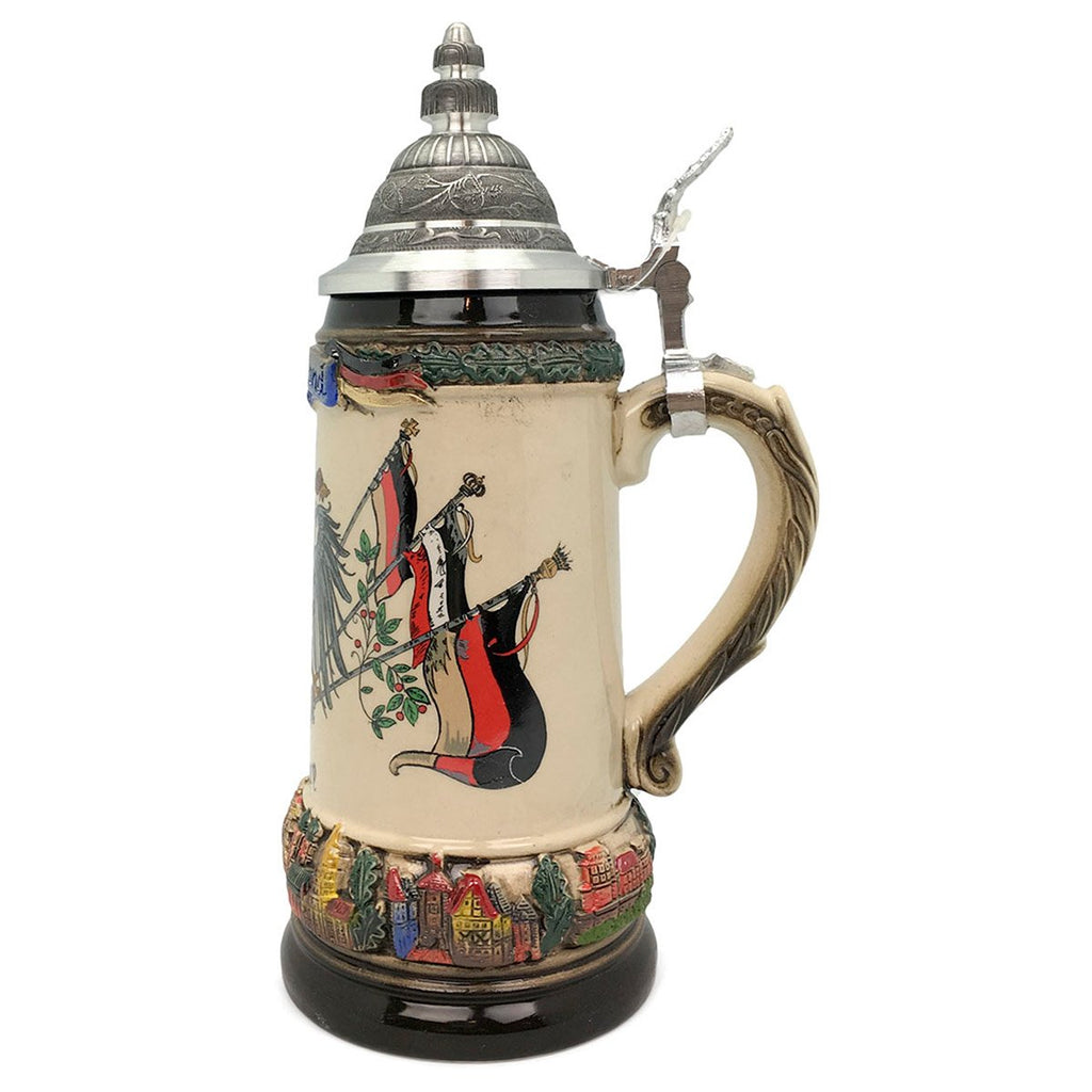 Classic Zoller & Born Deutschland Flag .75L German Beer Stein -2