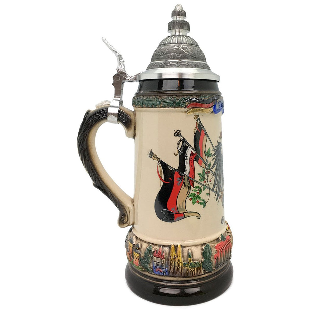Classic Zoller & Born Deutschland Flag .75L German Beer Stein -3