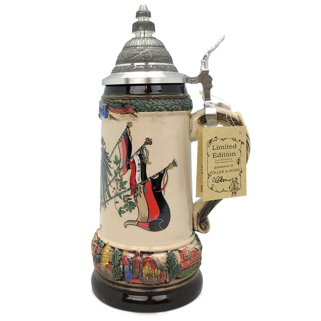 Classic Zoller & Born Deutschland Flag .75L German Beer Stein -5