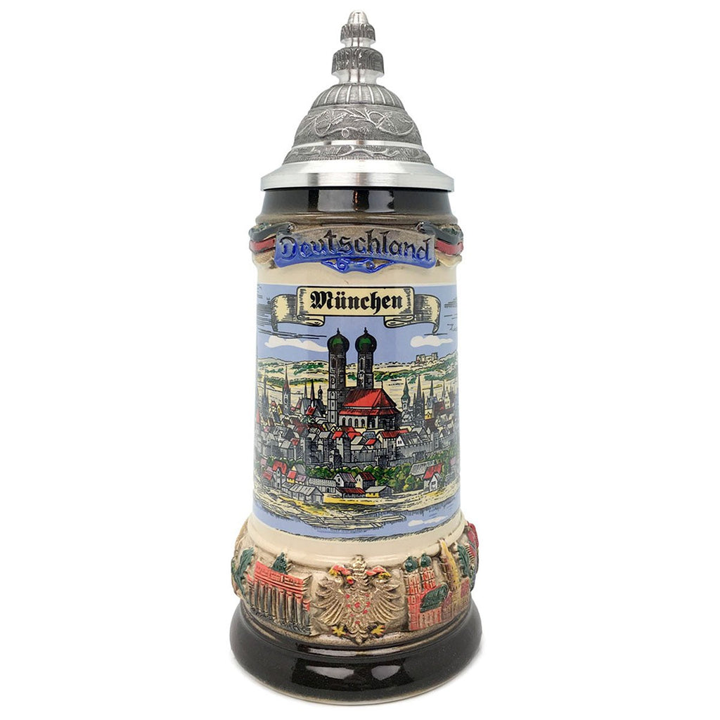 Classic Zoller & Born Munich Flag .75L German Beer Stein -1