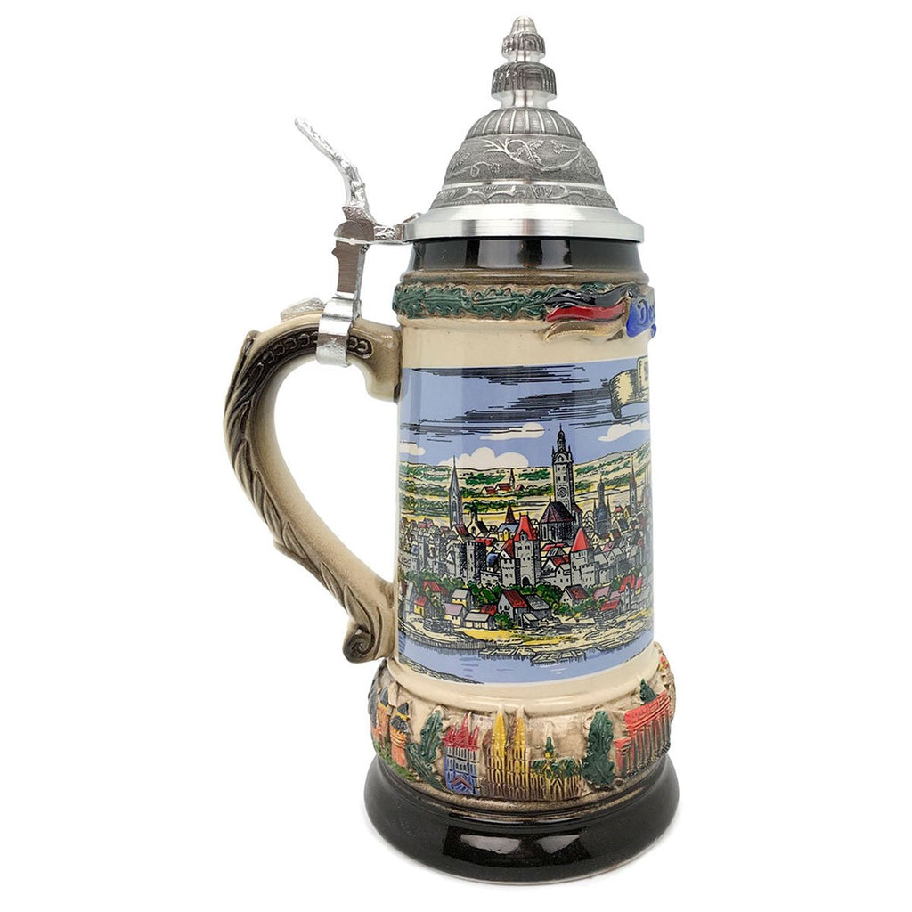 Classic Zoller & Born Munich Flag .75L German Beer Stein -3