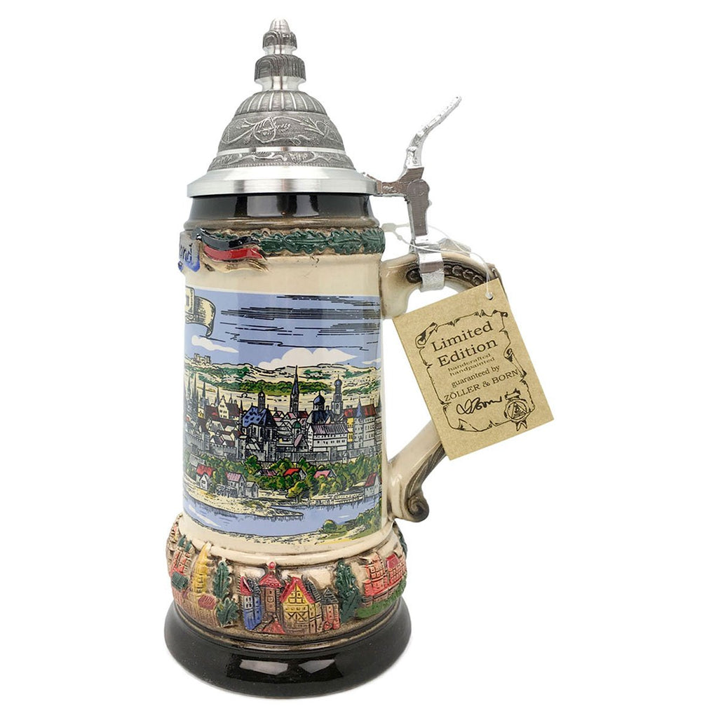 Classic Zoller & Born Munich Flag .75L German Beer Stein -5