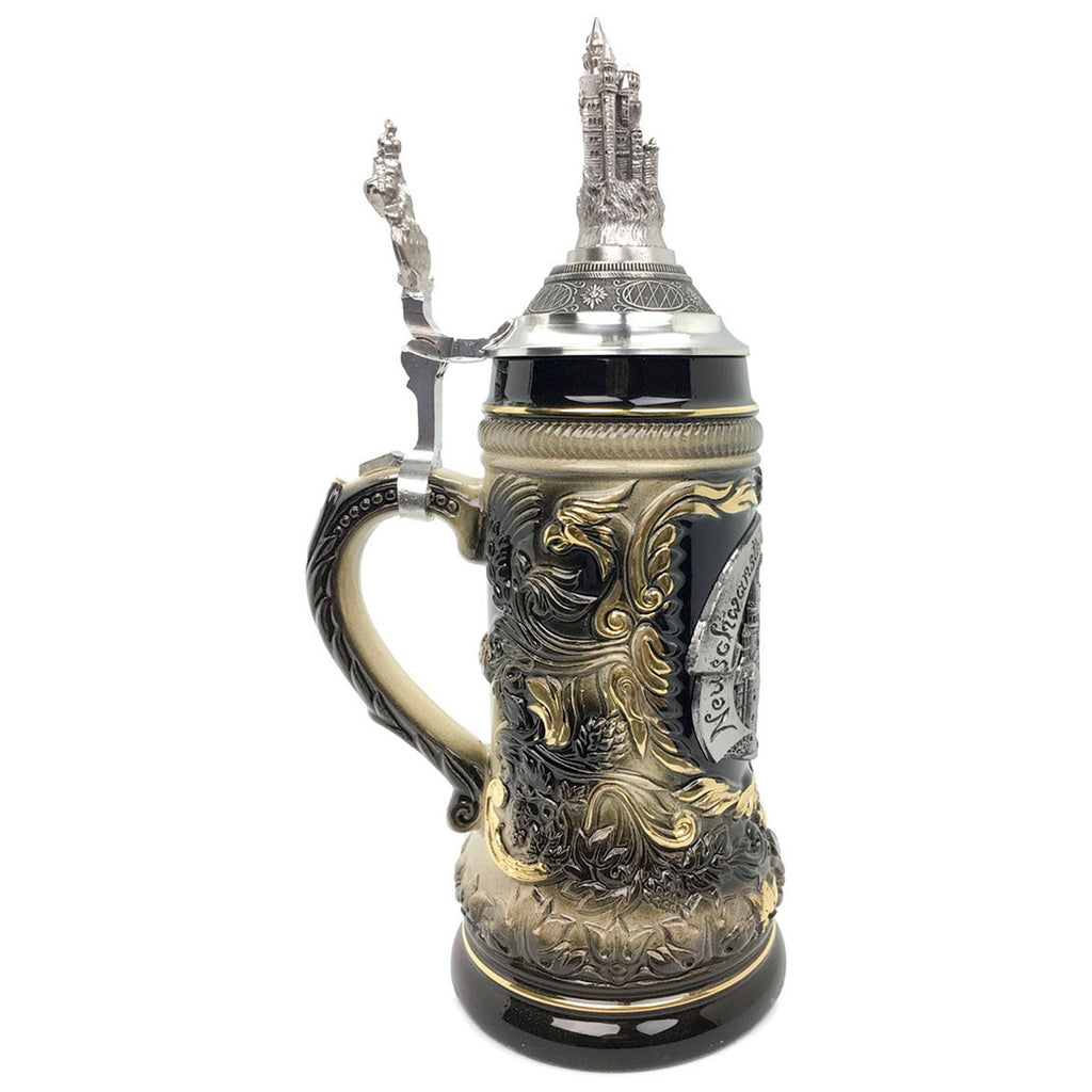 Neuschwanstein .75L German Beer Stein made by Zoller & Born -3