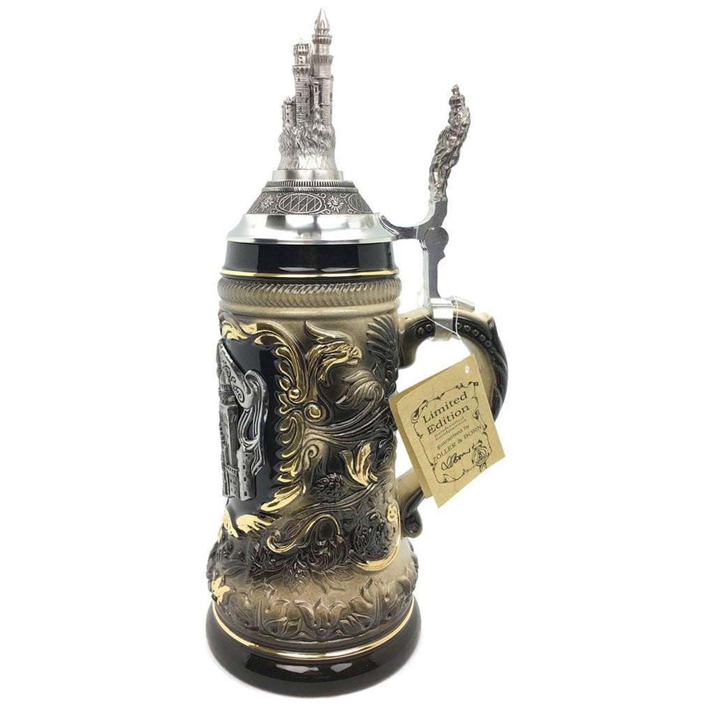 Neuschwanstein .75L German Beer Stein made by Zoller & Born -5