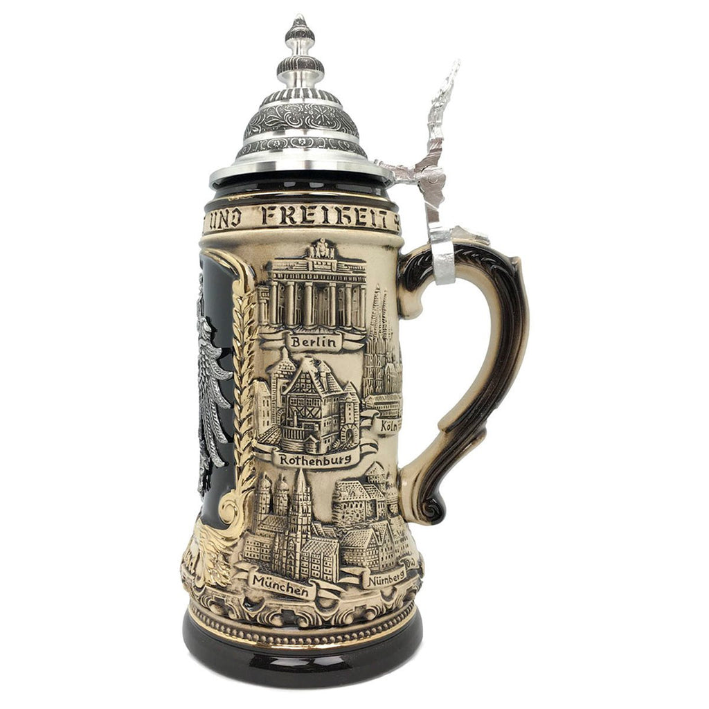 Deutschland Eagle Medallion Rustic 1.4L  German Beer Stein -2