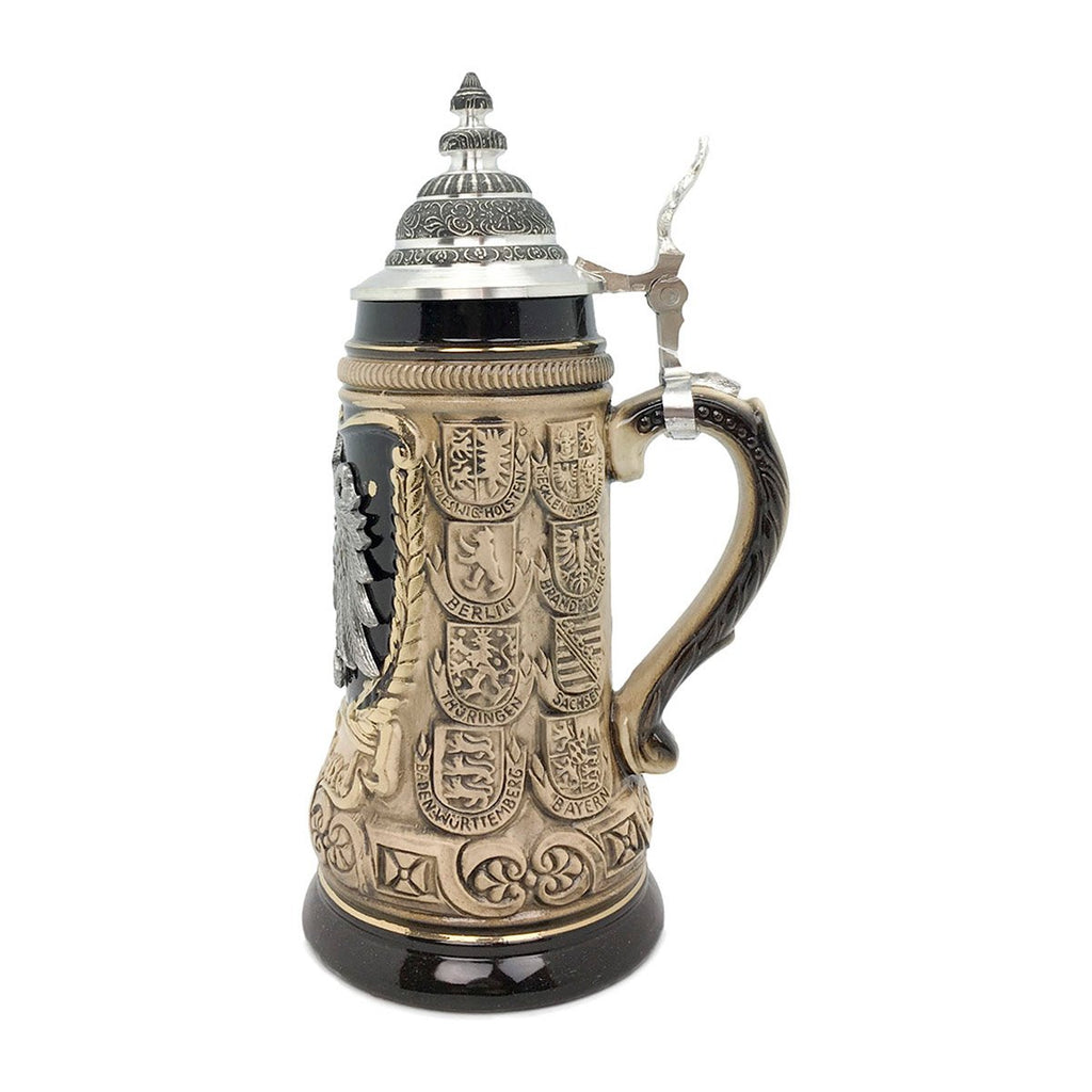 Eagle Medallion .5L Zoller & Born Beer Stein with Metal Lid -2
