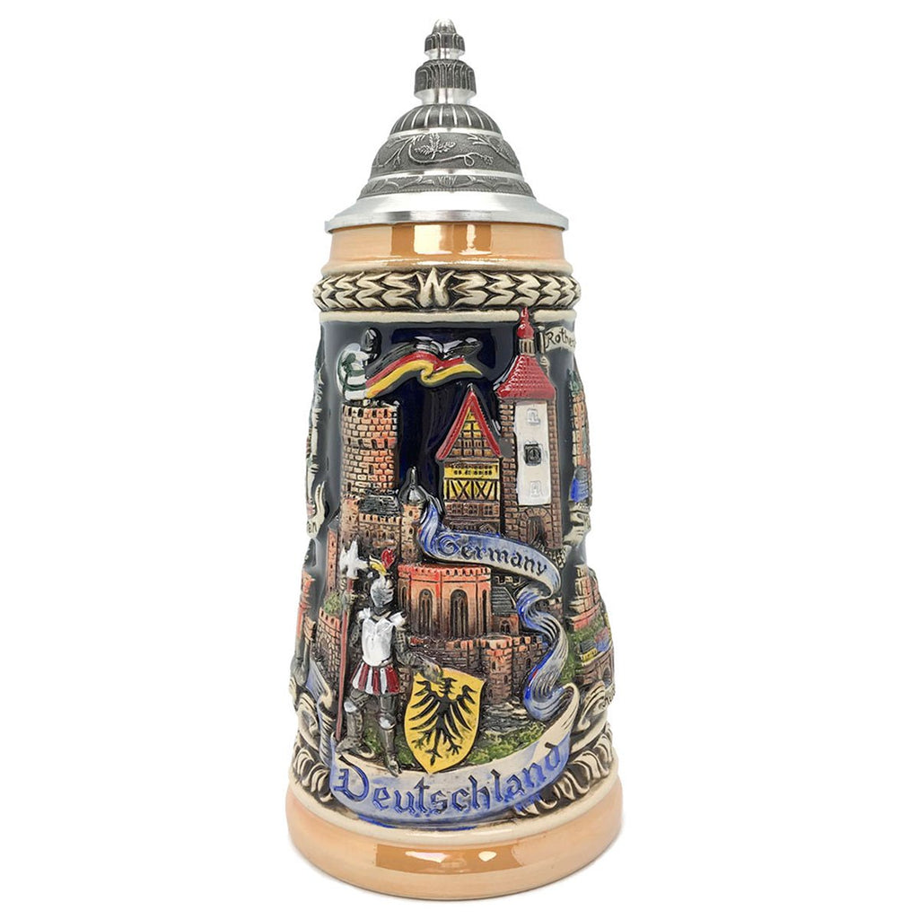 Zoller & Born Deutschland Panorama & German Cities 1L Beer Stein -1