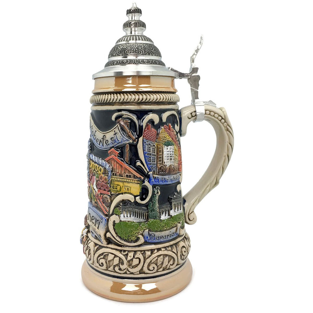 Oktoberfest in Munich Zoller & Born .9L German Beer Stein -2