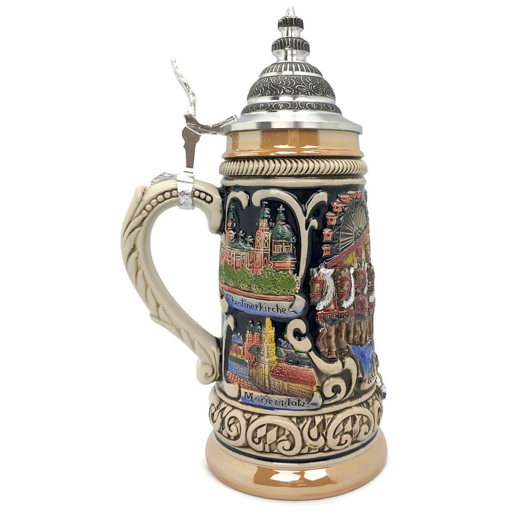 Oktoberfest in Munich Zoller & Born .9L German Beer Stein -3